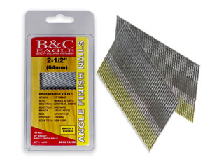 15 GAUGE 25° ANGLE FINISH NAILS (BOSTITCH STYLE), CLAMSHELL