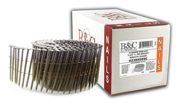 WIRE 15° FRAMING COIL NAILS, SMALL PACK